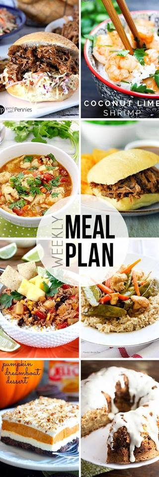 Collaborative weekly meal planning. 8 bloggers. 6 meal ideas plus 2 desserts every single week equals one heck of a delicious menu! week 13.