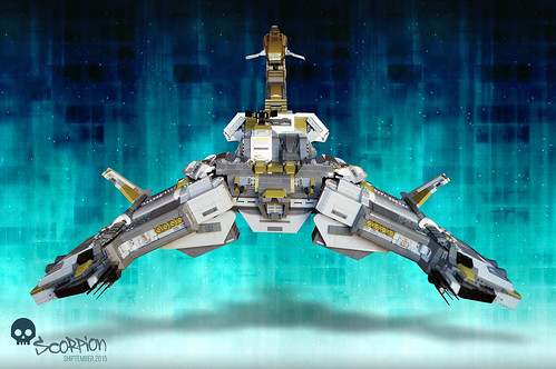 EVE online's custom Scorpion battleship, front angle | SHIPtember 2015