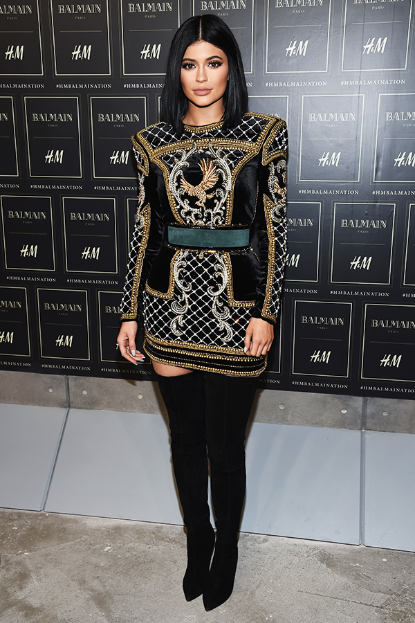 Kylie Jenner at the BALMAIN X H&M Collection Launch