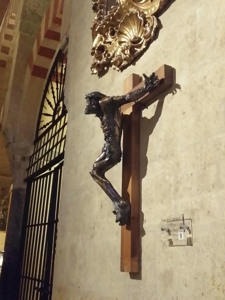 Cordoue - Cordoba, Mezquita, Cristo de la Liberación, 1993, Aurelio Teno