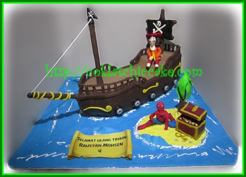 Cake Bajak Laut Kapten Hook dan Spiderman