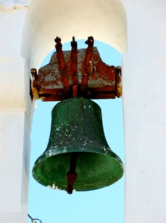 an old bell on a chapel