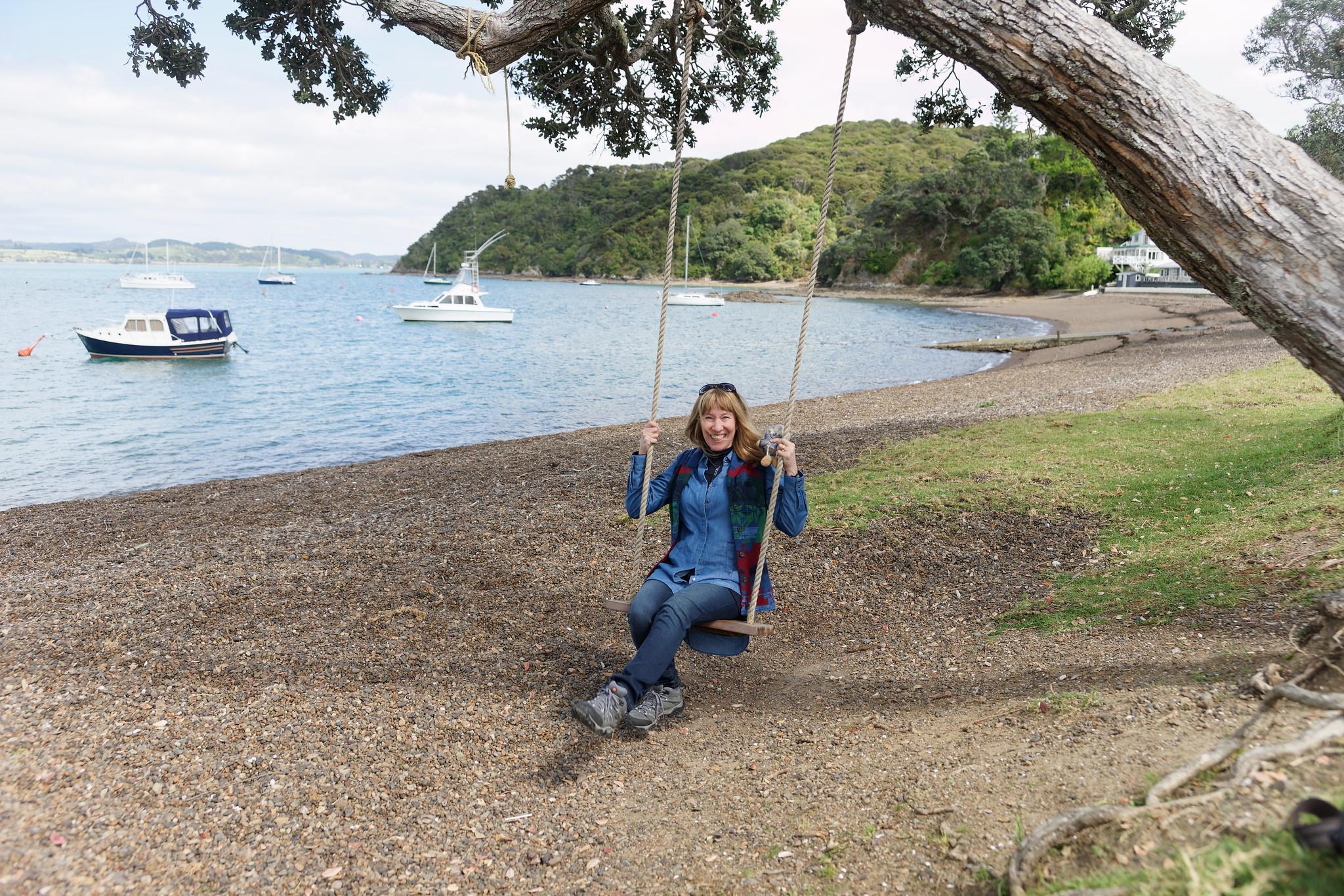 Tree Swing in Russell, New Zealand