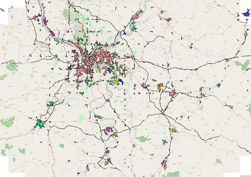 Pittsburgh Urban Areas :derived from OSM using the block method