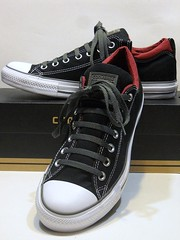 Dual Collar - Black, Charcoal Grey & Burgundy Red Ox 142291F