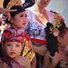 In traditional Balinese ceremonial dress