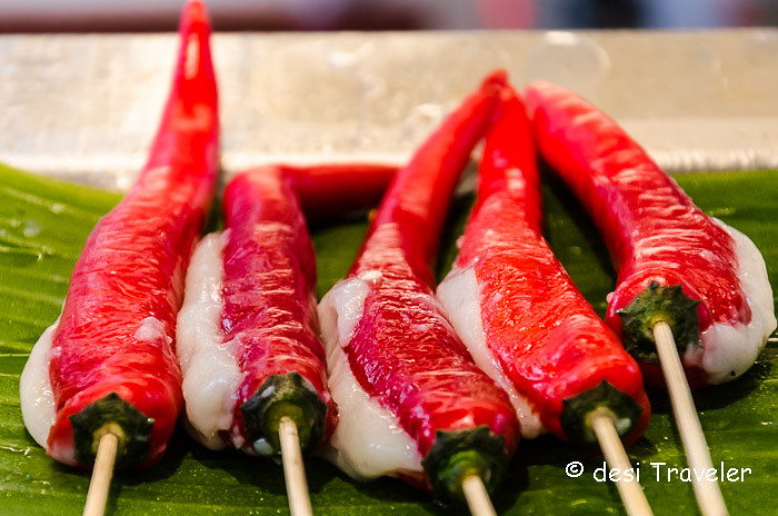 Red hot chili peppers Chinatown Food Street Singapore