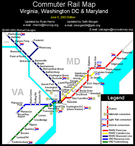 MD & VA commuter rail look great together on one map – Greater