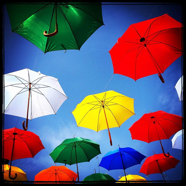 Umbrellas over my head