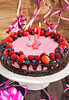 Homemade delicious raspberry cheesecake for little girl by Katty-S