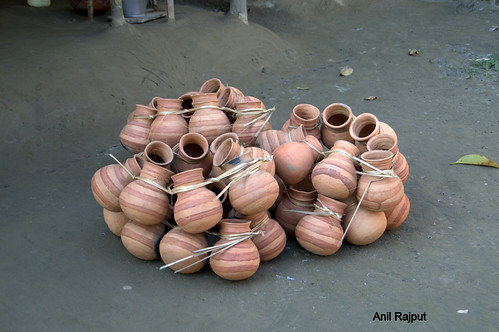 Earthen Pots made in Majuli