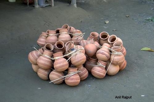 Earthen Pots made in Majuli