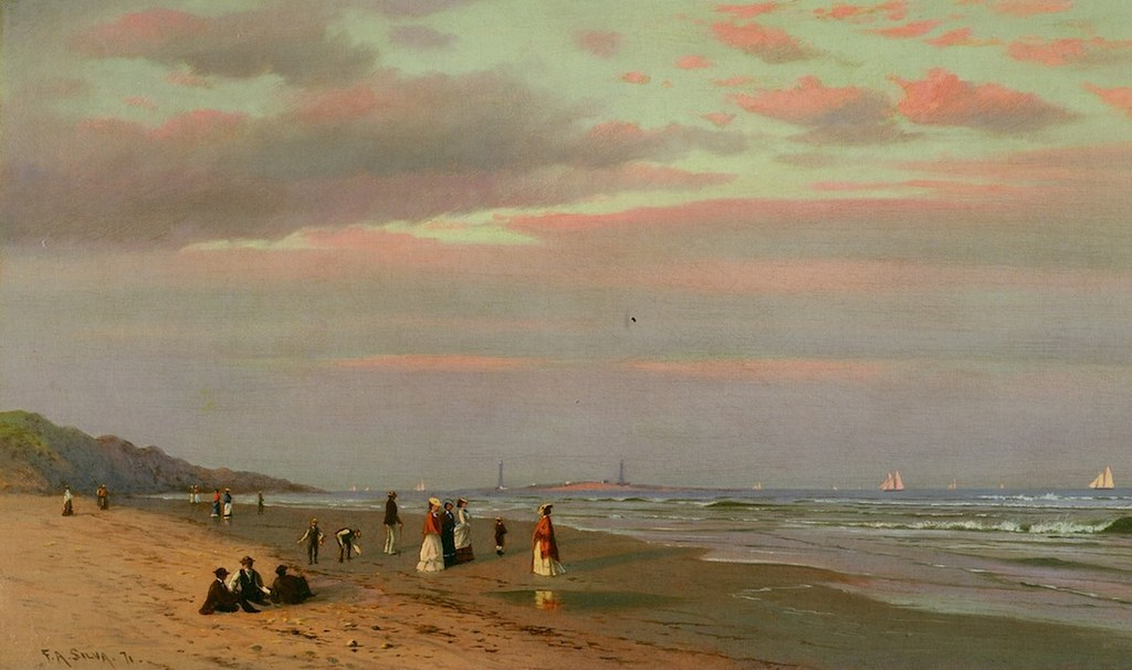 An Afternoon on Long Beach, Gloucester, Massachusetts by Francis A. Silva - 1871