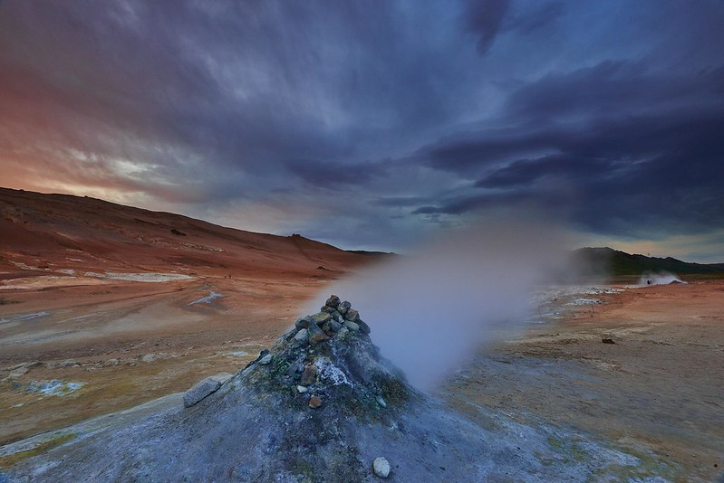 Steaming vent - Myvatn