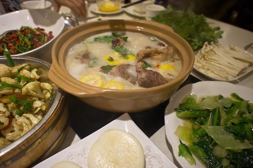 Ox bones soup, China
