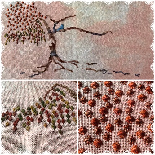 Autumn Tree of Stitches Part 1 - 3