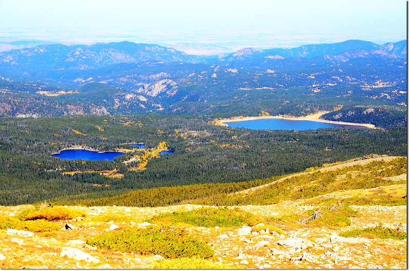 Overlooking down on Stapp Lakes & Beaver Reservoir from the trail 2