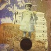 Button Boy. #vintageimage #vintagepaper #buttons #cheesecloth #journal #mixedmedia #collage #vintagelace #freemotionsewing by Dar5805