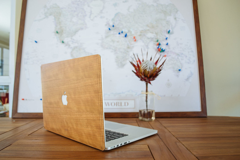 Wooden covers for MacBooks