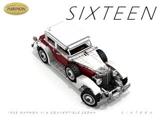 Marmon 1933 S I X T E E N Convertible Sedan