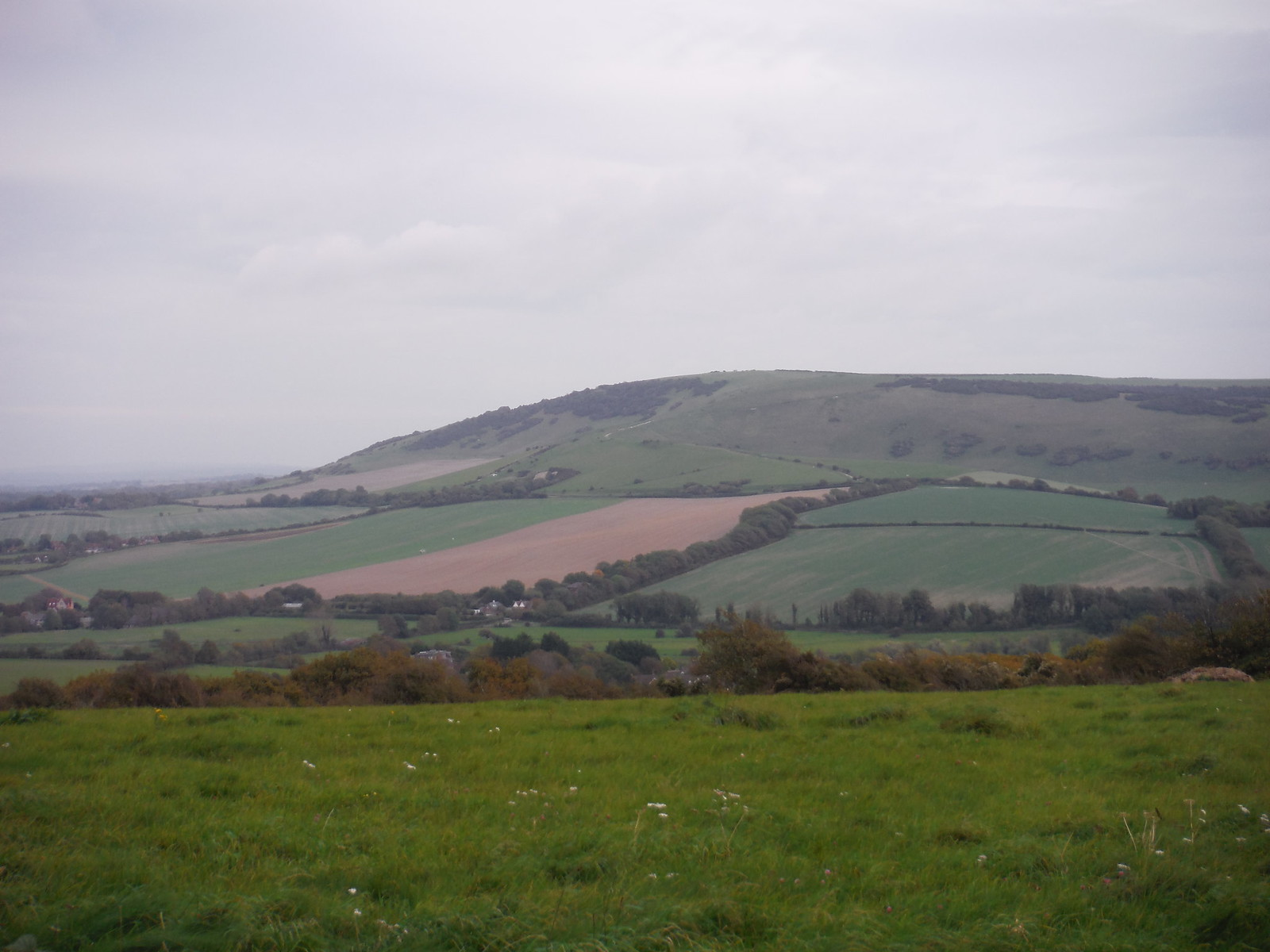 Windover and Wilmington Hills from west of Alfriston SWC Walk 25 - South Downs Way 8 : Southease to Eastbourne