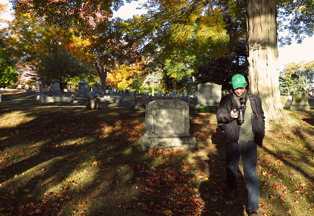 Greg in Wakefield Cemetery. October 18, 2015