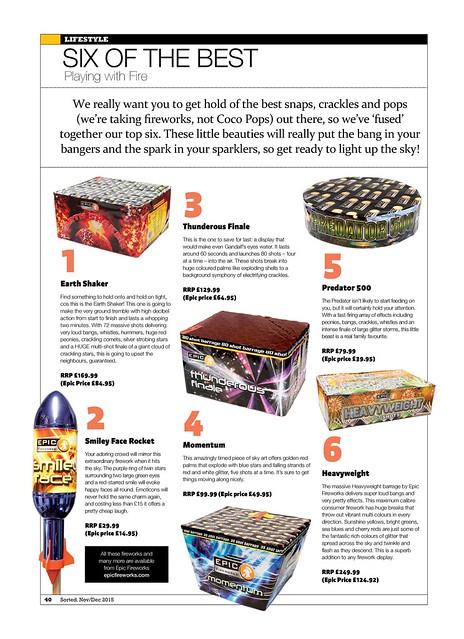 #EpicFireworks - Sorted Magazine 2015