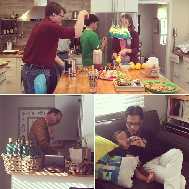 Many hands were on deck to get everything ready....we had a mixologist! #latergram