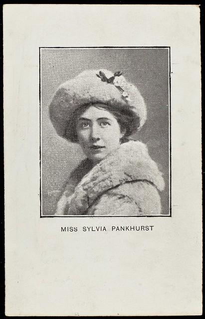 Photograph of Sylvia Pankhurst , c. 1910.