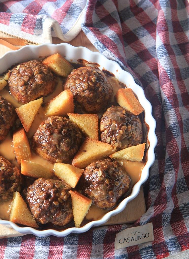 maçã caramelizada no forno hasselback