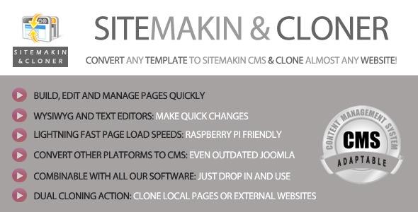 CodeCanyon Sitemakin and Cloner v1.4 - Fast CMS and Cloner