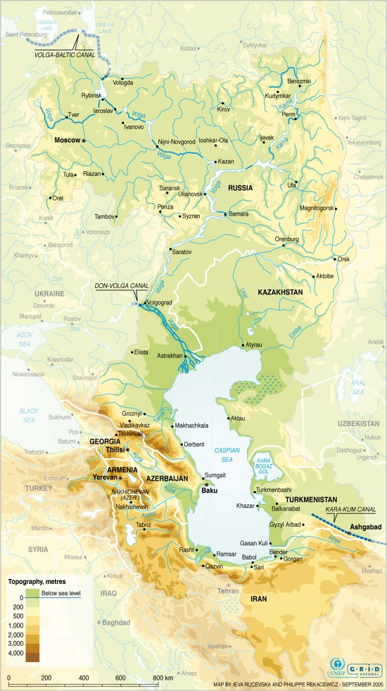 The Caspian Sea drainage basin | GRID-Arendal