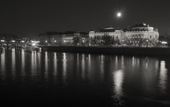 Full moon over Prague