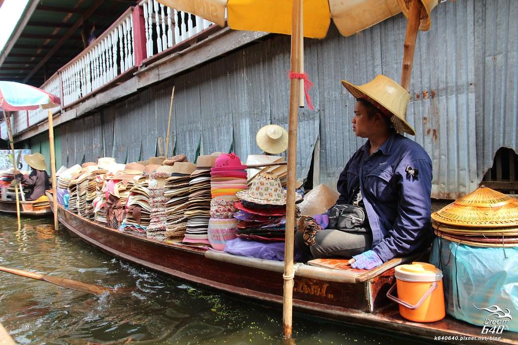泰國曼谷-水上市場+美功鐵道市集+河濱夜市-51