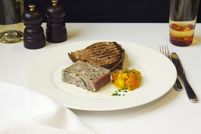 Ham hock terrine piccalilli  © ROH. Photograph by ROH Restaurants, 2017