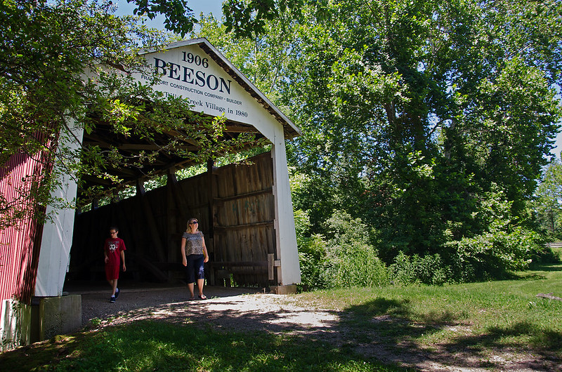 Walking the Beeson Covered Bridge