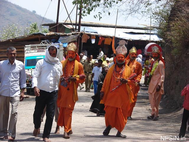 Hanuman Ji look outside of Shri Neelkanth Mahadev Mandir