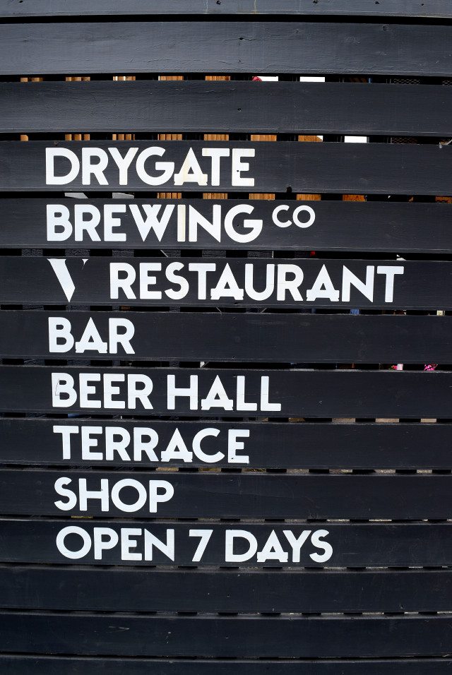 Outside Drygate Brewery, Glasgow