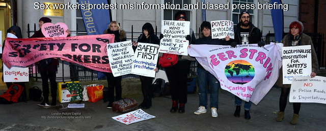 Sex workers protest misinformation and biased press briefing