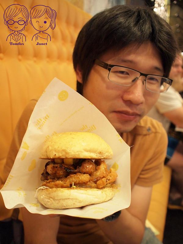 26 樂子美式餐廳(南港店) 大太陽鳳梨雞腿堡