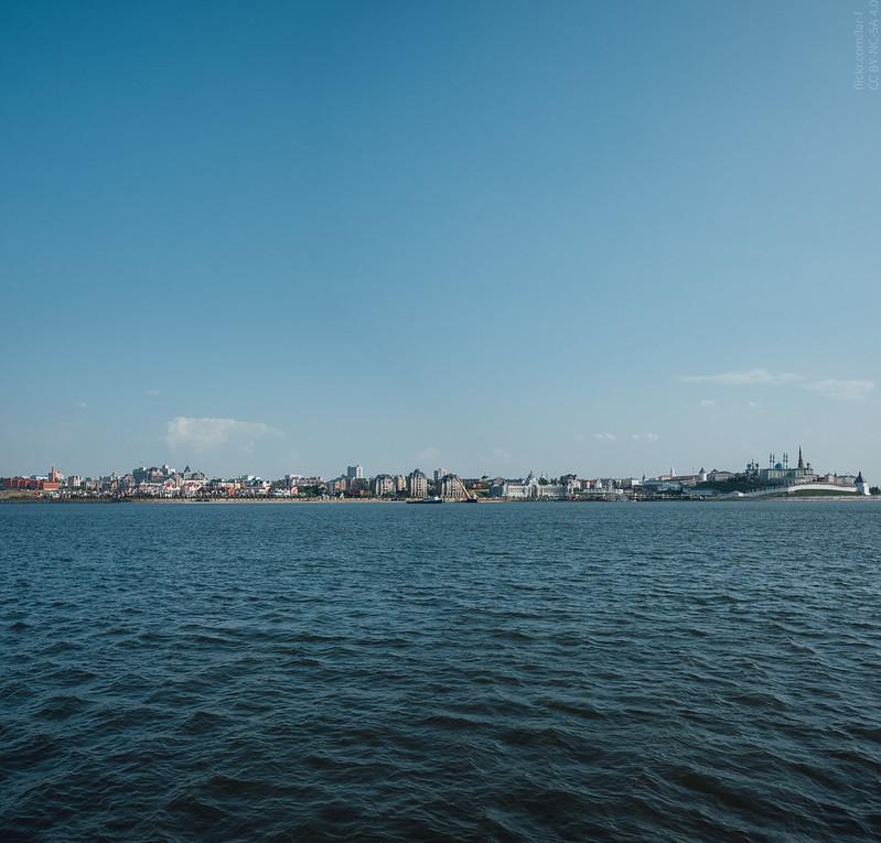 Kazan city center view