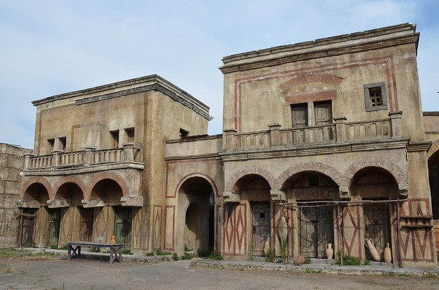 """Set of HBO's """"Rome"""" at Cinecittà, Rome"""