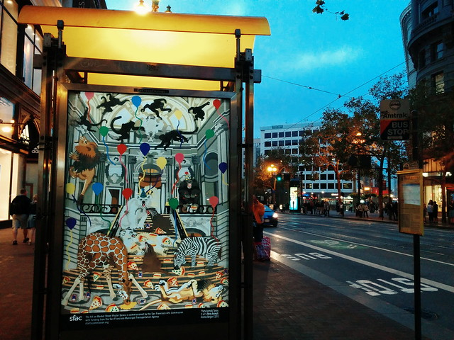 "first one i get to spot in the wild: ads<art :) × market st last nite ""San Francisco Beautiful presents: Muni Art"" by SFBeautiful × SFAC"
