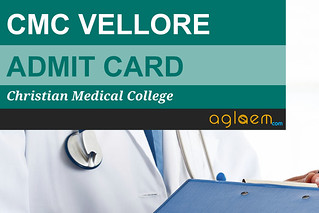 CMC Vellore Admit Card 2016 - Download Entrance Exam Hall Ticket
