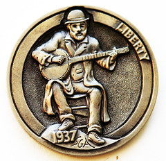 Steve Adams banjo hobo nickel 1