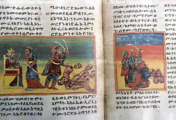 ሔሮድስ ትላልቅ ሕጻናት እንዲገደሉ አዋጅ ሲያስነግር     ሔሮድስ የውጭ ዜጎች እንዲገደሉ ሲያሳውጅ Herod orders killing of older children; Herod orders killing of all foreigners in the country