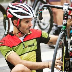 Bike check up before the race. #critdeiponti #fixedgear #fixkin #cinelli #fixedforum #Mquadro #bontrager #wingedstore #vigorelli