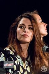 Sarah Shahi and Amy Acker
