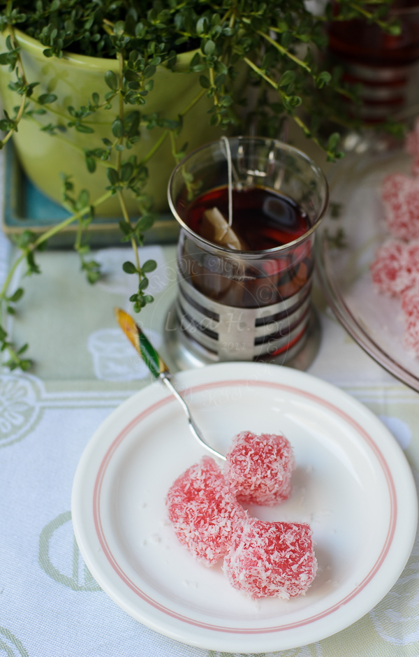Steamed Tapioca Pearls with Rosewater recipe