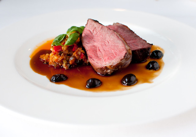Saddle of lamb with Provençale vegetables and olives © ROH Restaurants 2015